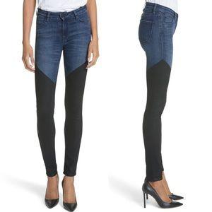 Hudson Barbara Two-Tone Skinny Ankle Jeans